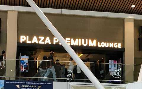 Took a photo of a Plaza Premium lounge entrance. Access passes can be purchased on the Plaza Premium website. I'll try to get a clearer one next time.